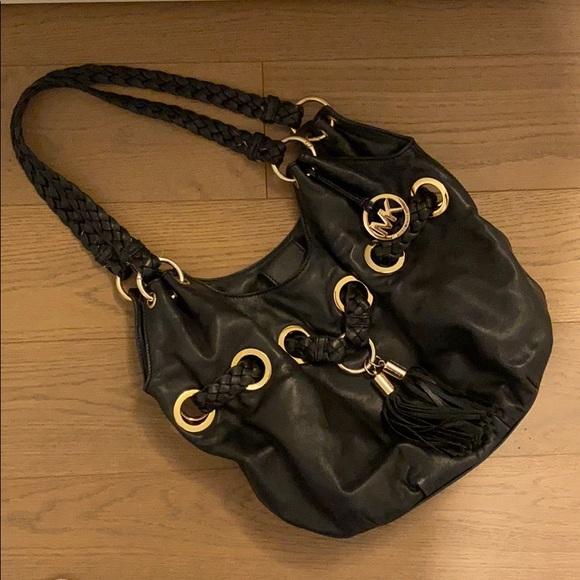 Large black leather Michael Kors purse